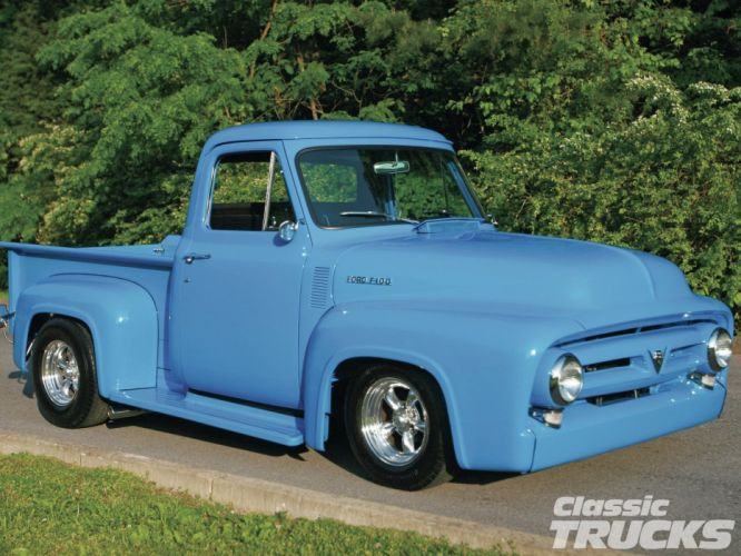 1953 Ford F100 Pickup Hotrod Streetrod Hot Rod Street USA 1600x1200-06 wallpaper