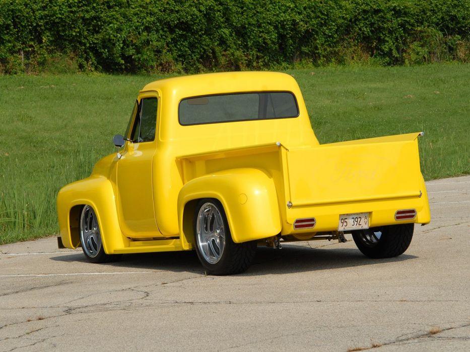 1953 Ford F100 Pickup Hotrod Streetrod Hot Rod Street USA 1600x1200-13 wallpaper