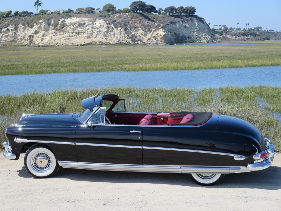 1953 Hudson Hornet Twin-H Convertible Black Classic Old Vintage Original USA 1600x1200-06 wallpaper