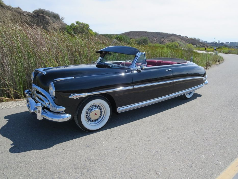 1953 Hudson Hornet Twin-H Convertible Black Classic Old Vintage Original USA 1600x1200-08 wallpaper