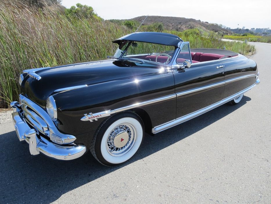 1953 Hudson Hornet Twin H Convertible Black Classic Old Vintage