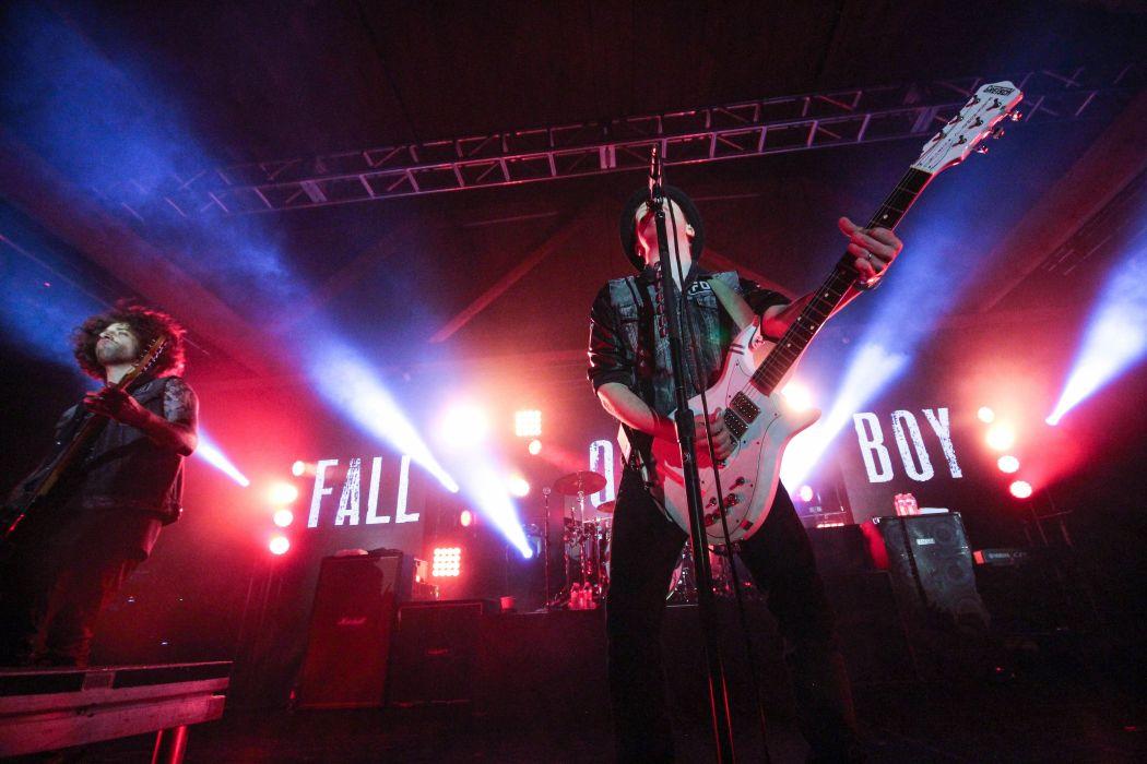 FALL OUT BOY pop punk rock alternative 1fallob concert guitar singer wallpaper