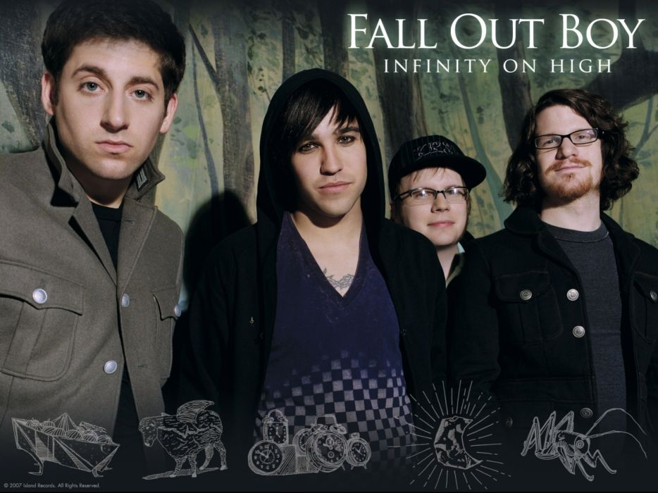 FALL OUT BOY pop punk rock alternative 1fallob poster wallpaper