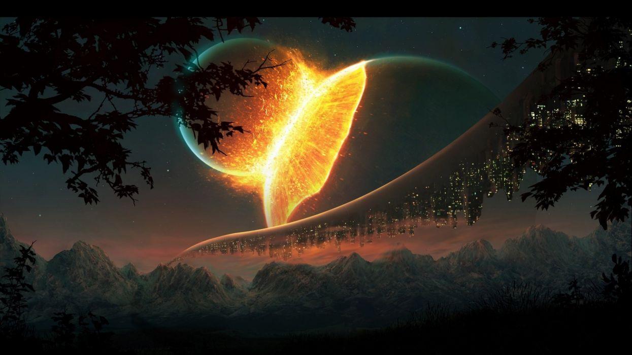 FALL OUT BOY pop punk rock alternative 1fallob poster sci-fi artwork art moon planet apocalyptic wallpaper