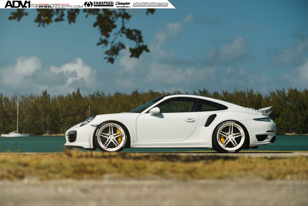 ADV 1 WHEELS PORSCHE 991 TURBO S white tuning 2015 cars wallpaper