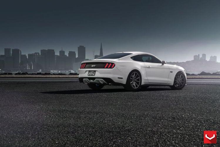 vossen WHEELS Ford Mustang GT tuning cars black wallpaper