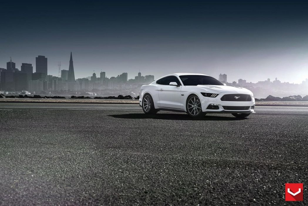 vossen WHEELS Ford Mustang GT tuning cars black wallpaper
