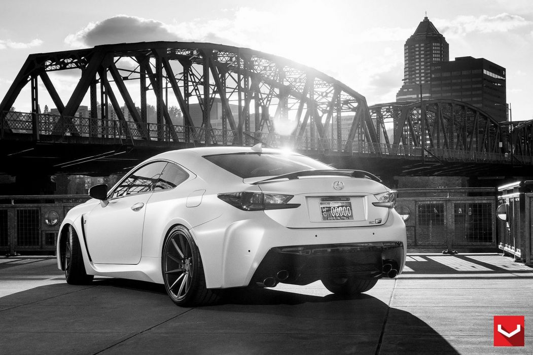 vossen WHEELS Lexus RCF tuning cars black wallpaper