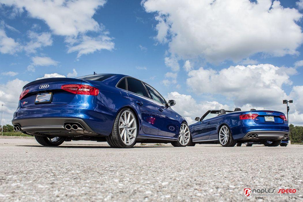 vossen WHEELS Sean Blue Audi CVT tuning cars black wallpaper