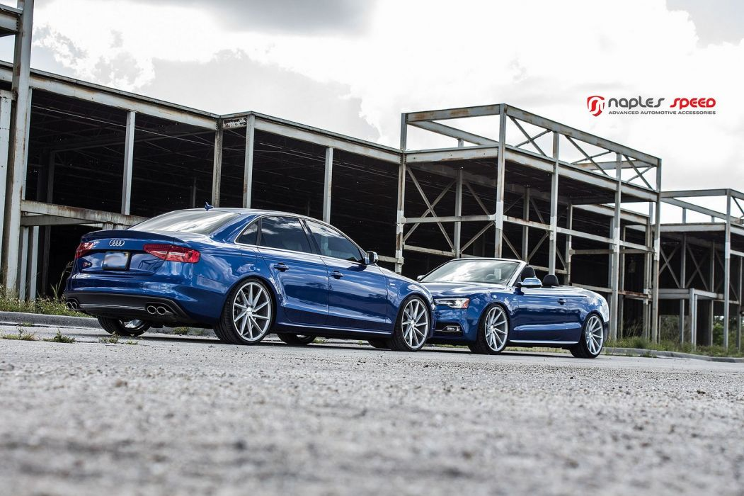 vossen WHEELS Sean Blue Audi CVT tuning cars black wallpaper