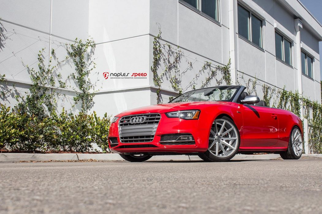 vossen WHEELS Sean red Audi s5 convertible tuning cars black wallpaper