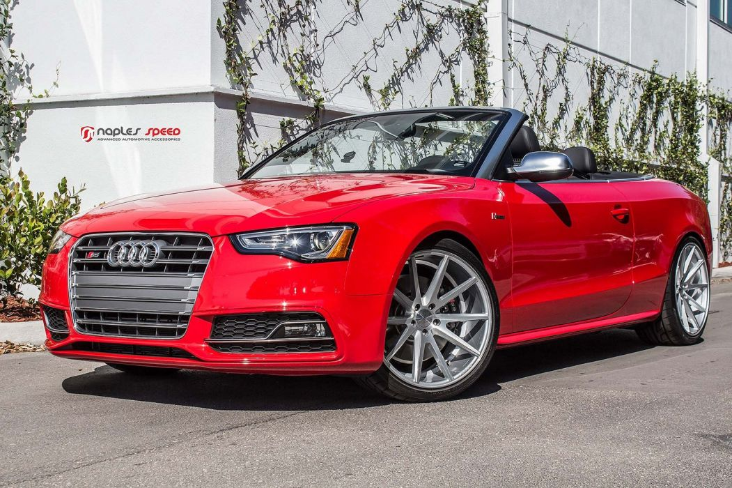 vossen WHEELS Sean red Audi s5 convertible tuning cars black wallpaper