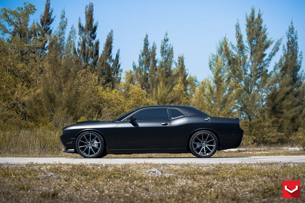 vossen WHEELS Dodge Challenger R-T black tuning cars wallpaper