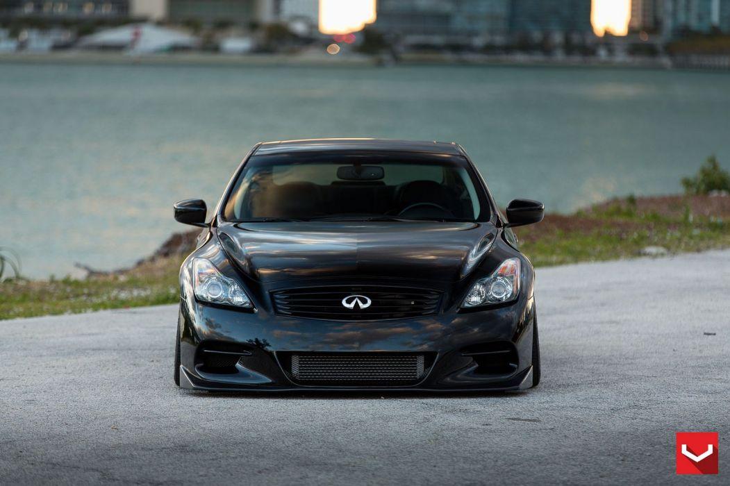 vossen WHEELS Infiniti G37s black tuning cars wallpaper