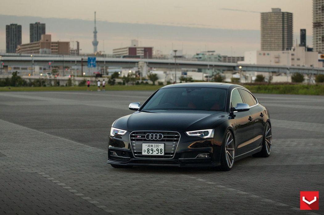 vossen WHEELS Audi S5 sportback black tuning cars wallpaper