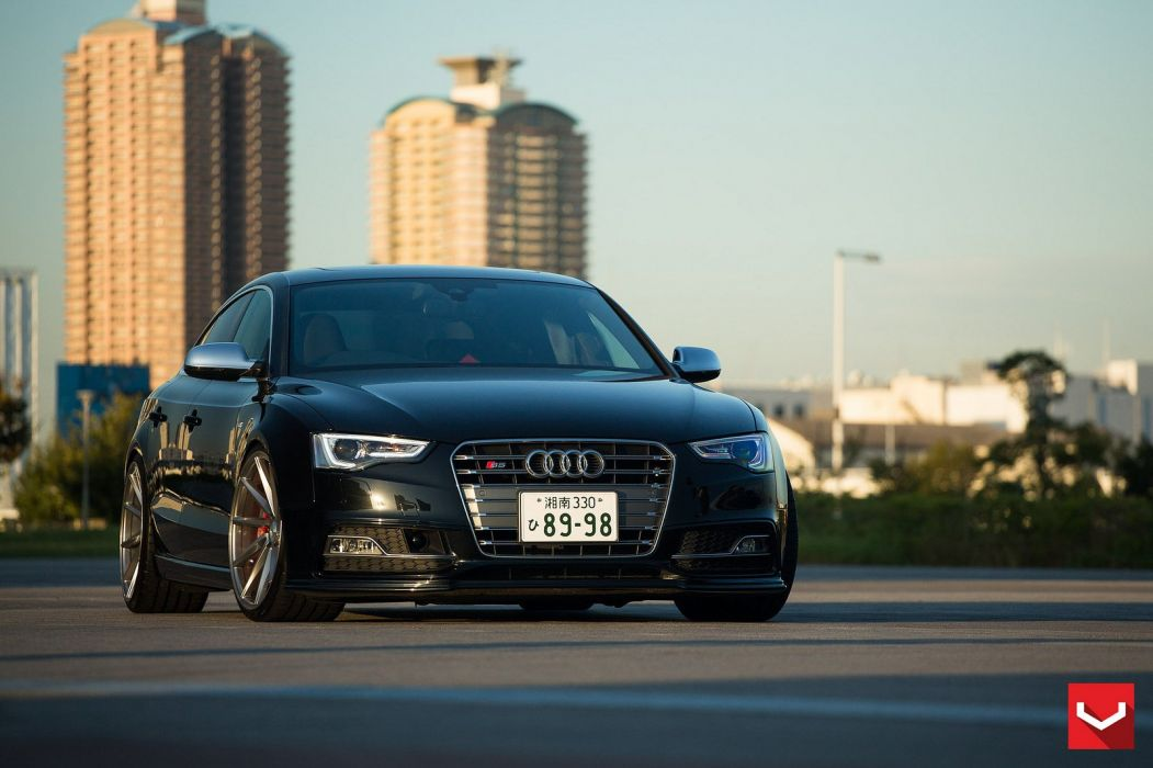 vossen WHEELS Audi S5 sportback black tuning cars wallpaper