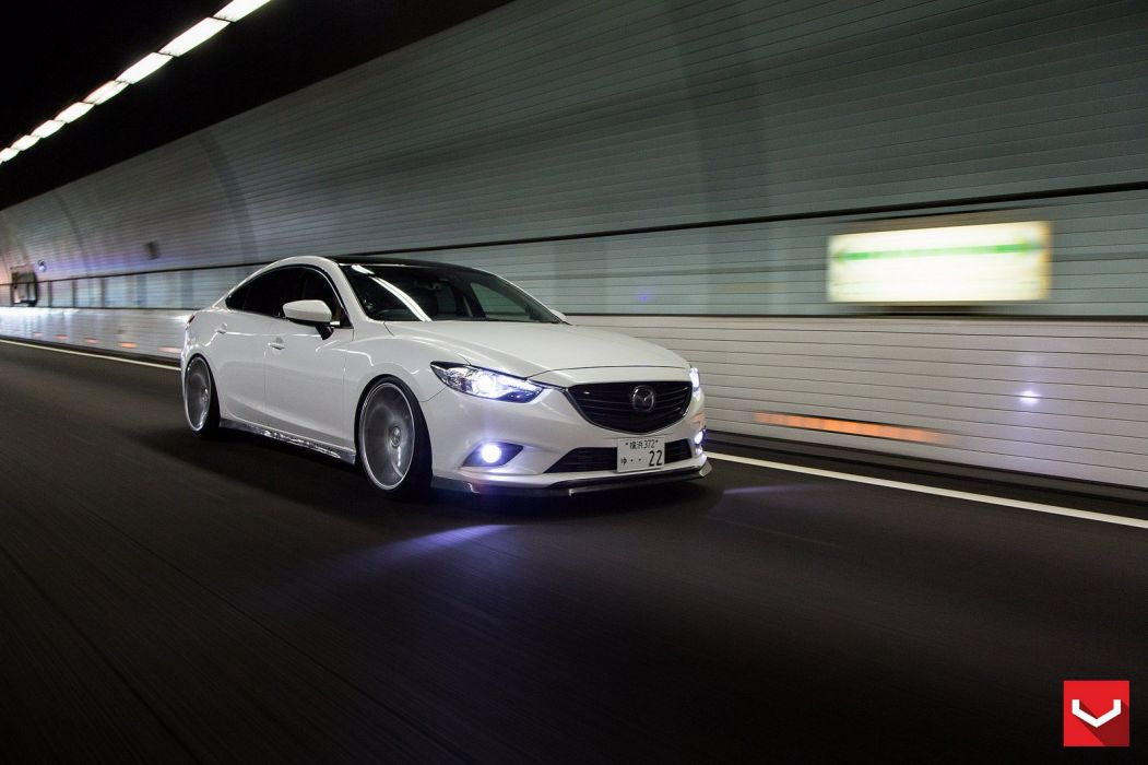 vossen WHEELS Mazda 6 white tuning cars wallpaper