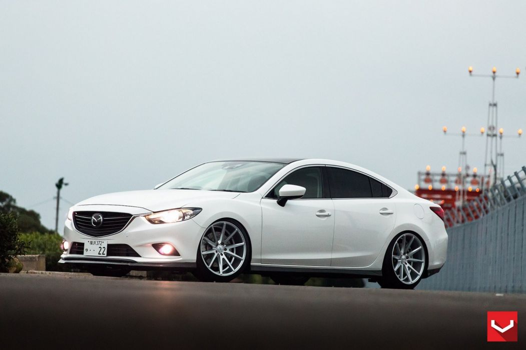 vossen WHEELS Mazda 6 white tuning cars wallpaper