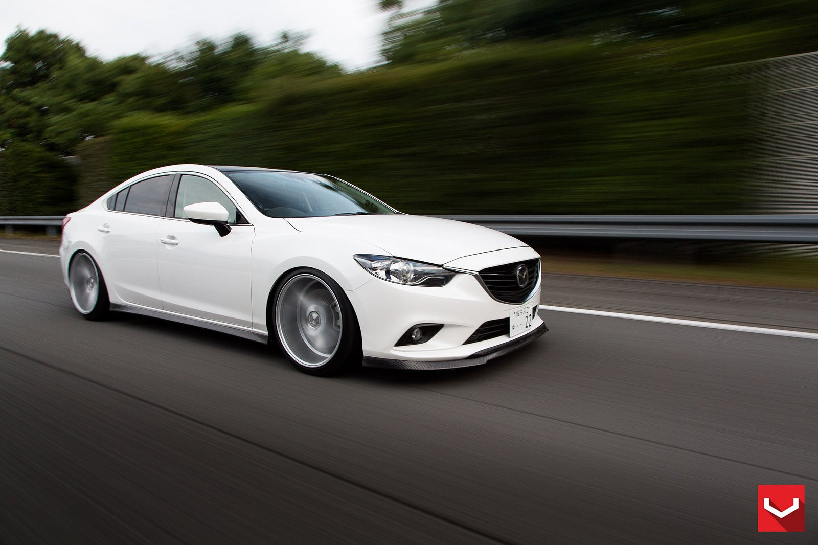 vossen wheels mazda 6 white tuning cars wallpaper. Black Bedroom Furniture Sets. Home Design Ideas