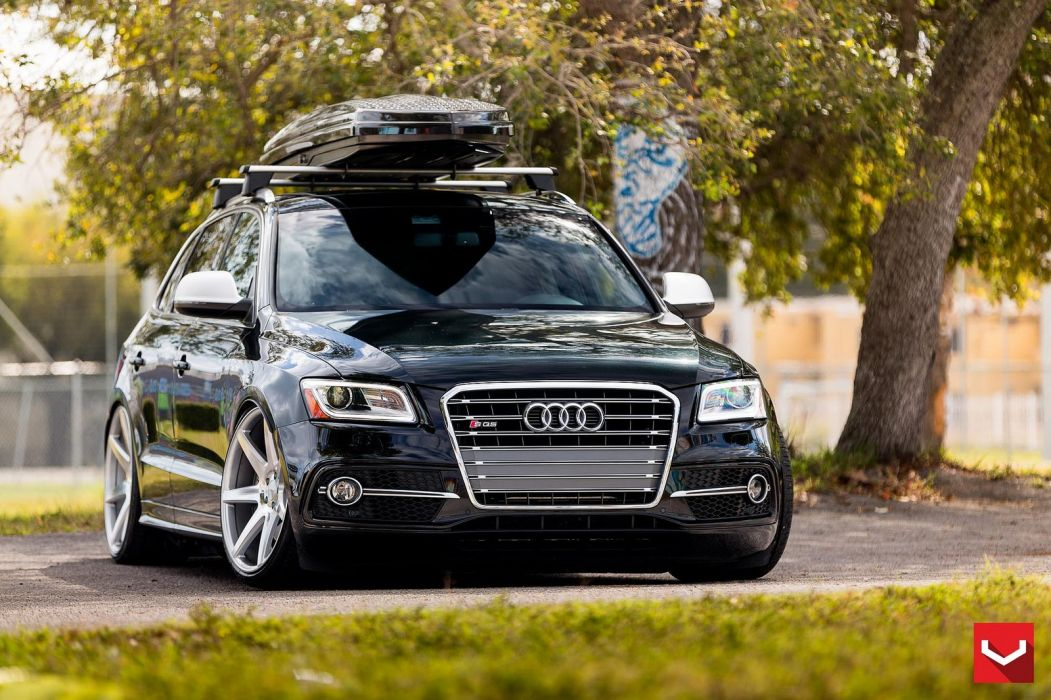 vossen WHEELS Audi SQ5 black tuning cars wallpaper