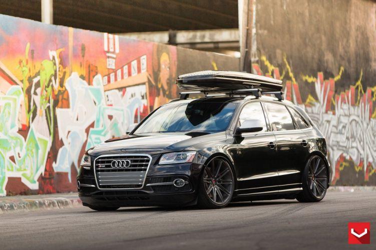 vossen WHEELS Audi SQ5 black tuning cars wallpaper