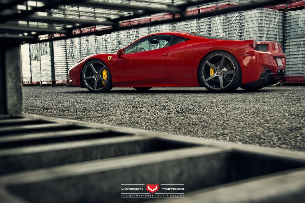 vossen WHEELS Ferrari 458 tuning cars wallpaper