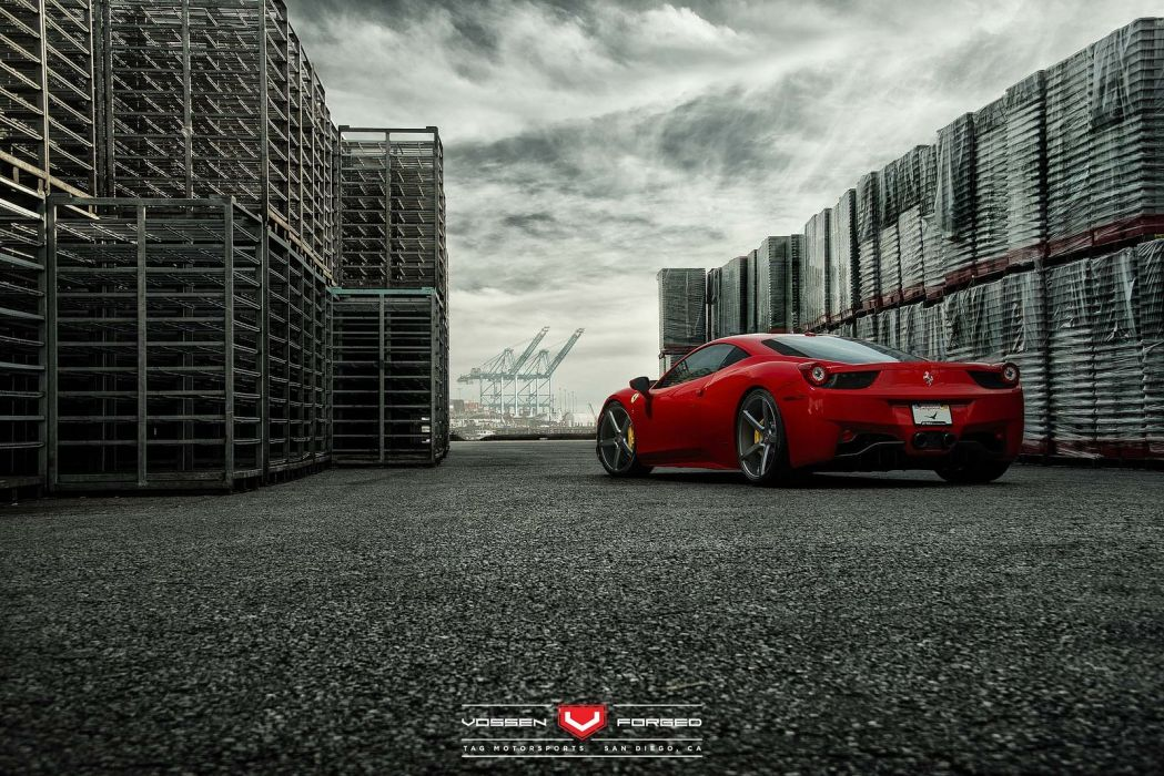 vossen WHEELS Ferrari 458 tuning cars wallpaper