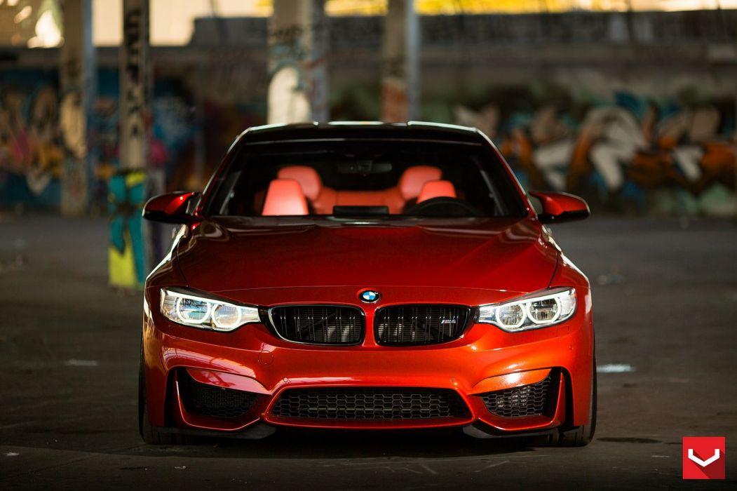 vossen WHEELS BMW F82 M4 Sakhir Orange tuning cars wallpaper