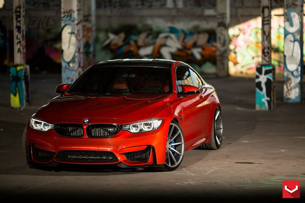 vossen WHEELS BMW F82 M4 Sakhir Orange tuning cars wallpaper