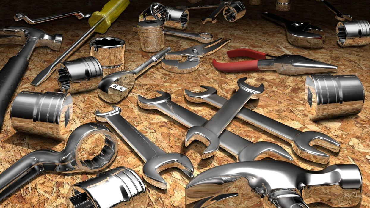 herramientas llaves tuercas wallpaper