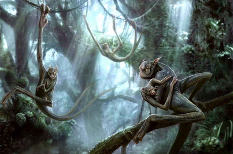 criaturas bosque fantasias wallpaper