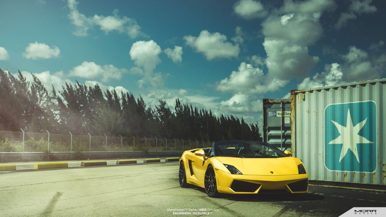 morr Wheels Lamborghini Gallardo spider cars tuning wallpaper