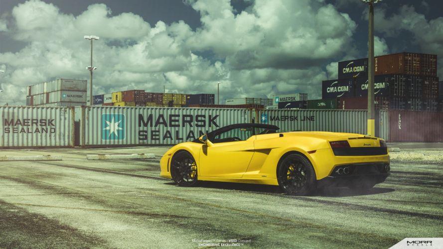 morr Wheels Lamborghini Gallardo spider cars tuning wallpaper
