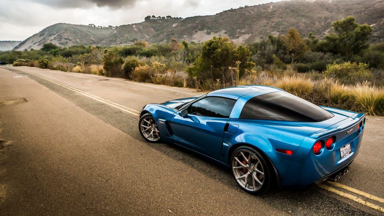 morr Wheels corvette z06 c6 cars tuning wallpaper