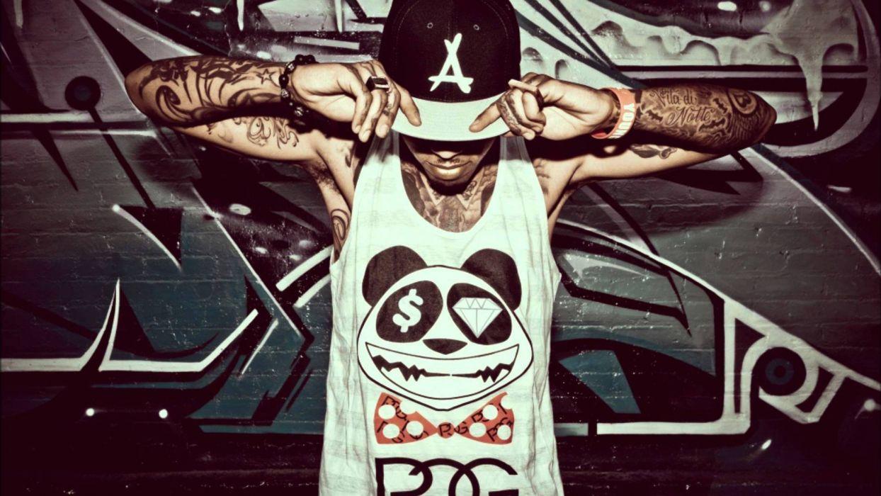 KID INK rapper rap hip hop disc jockey d-j 1kink gangsta tattoo wallpaper