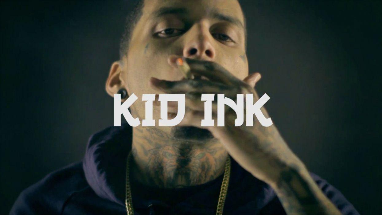 KID INK rapper rap hip hop disc jockey d-j 1kink gangsta poster 420 drugs weed marijuana wallpaper