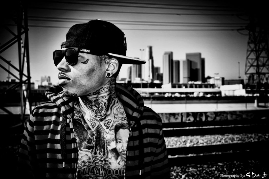 KID INK rapper rap hip hop disc jockey d-j 1kink gangsta tattoo wallpaper