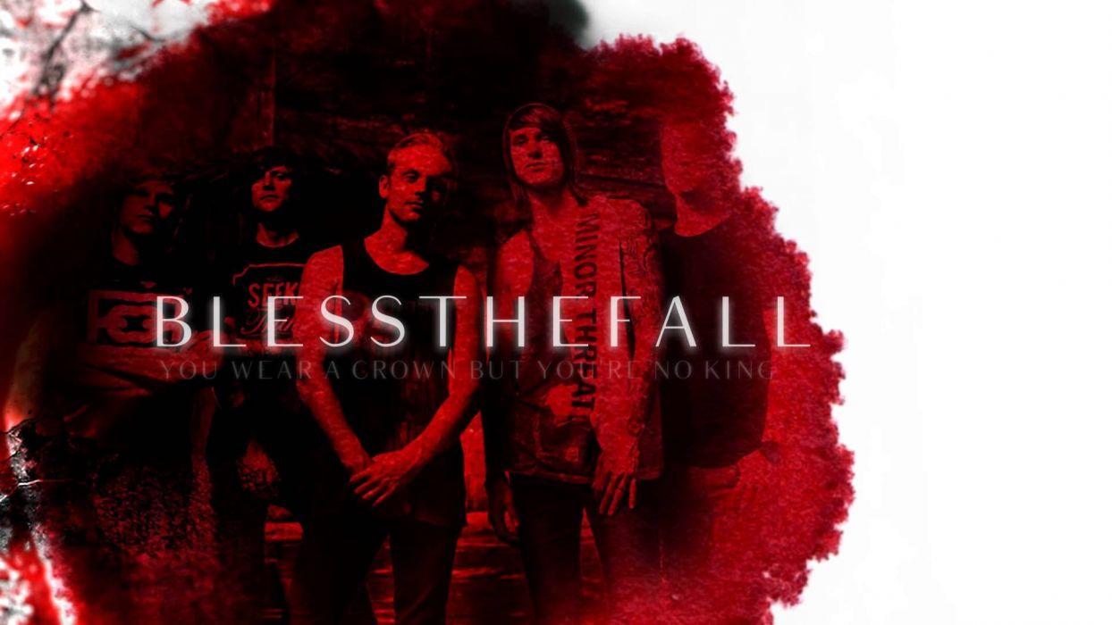 BLESSTHEFALL metalcore screamo hardcore poster wallpaper