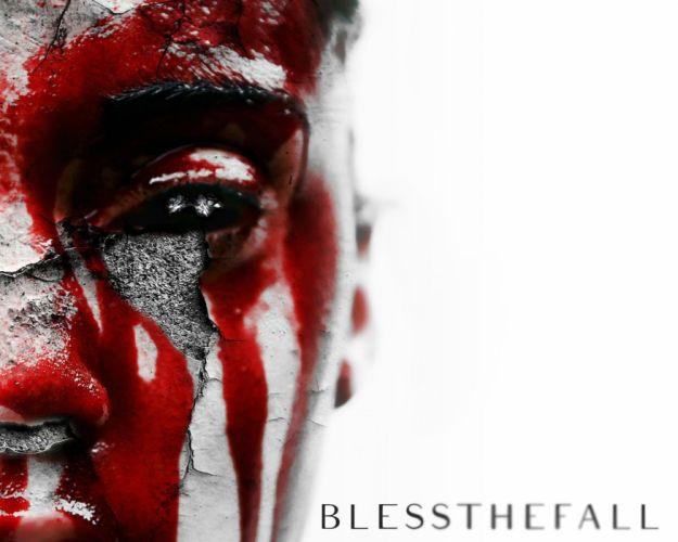 BLESSTHEFALL metalcore screamo hardcore dark blood wallpaper
