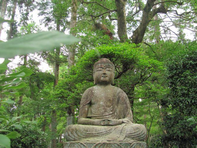 ZEN mood bokeh garden Buddhism religion wallpaper