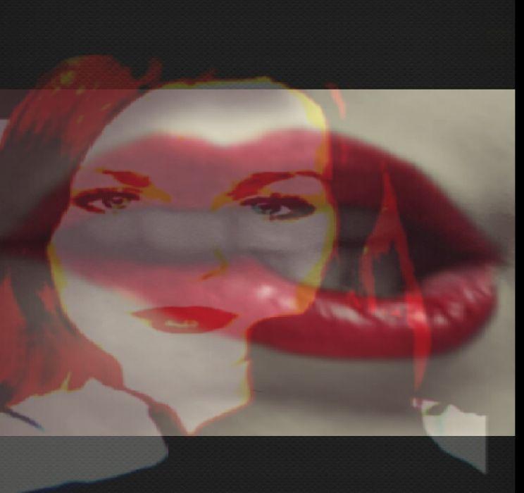 Blue eye eyes red lip lips hair Lady Girl Sweden Swedish Gbg Gothenburg Smisk Smask faid away Trippy backround 3D wallpaper