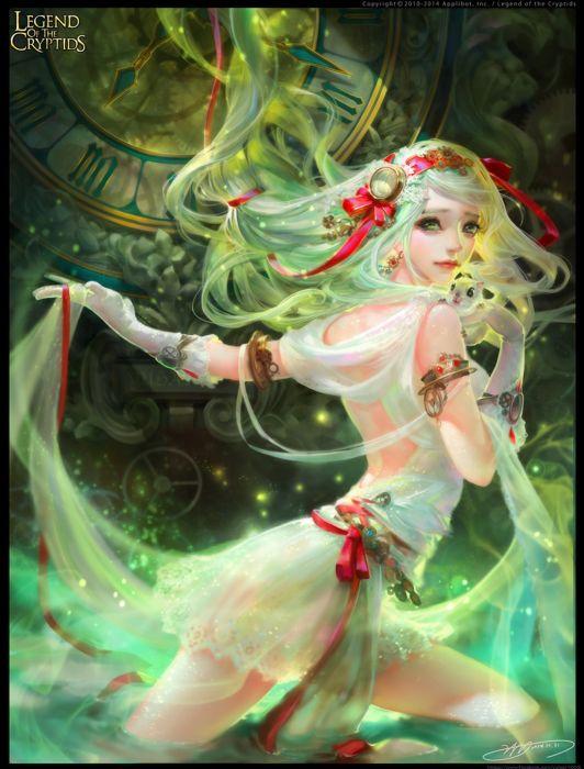 long hair girl fantasy beautiful dress wallpaper