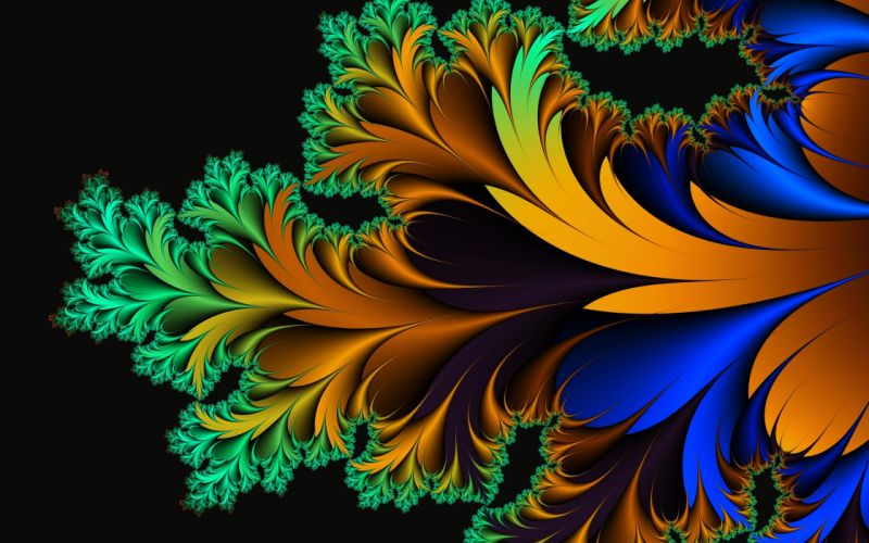 Abstract art background Colorful colors Flowers Glowing wallpapers wallpaper