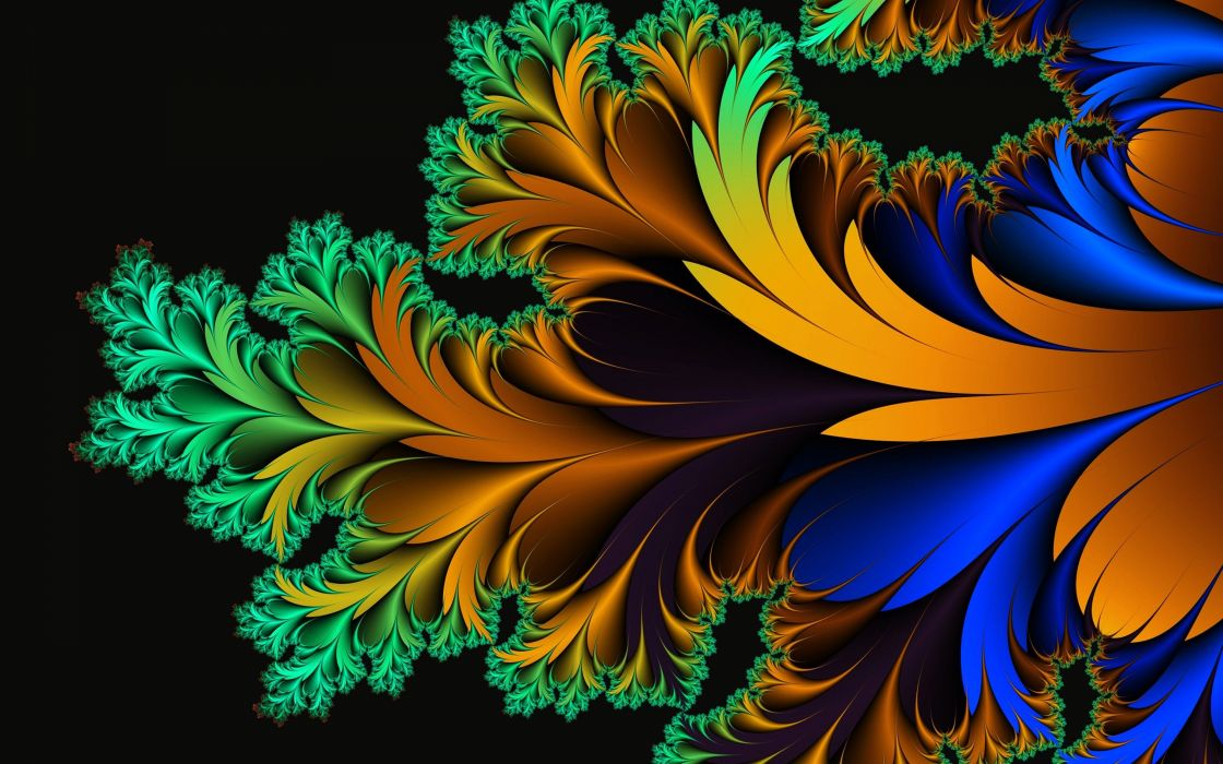 Abstract Art Background Colorful Colors Flowers Glowing