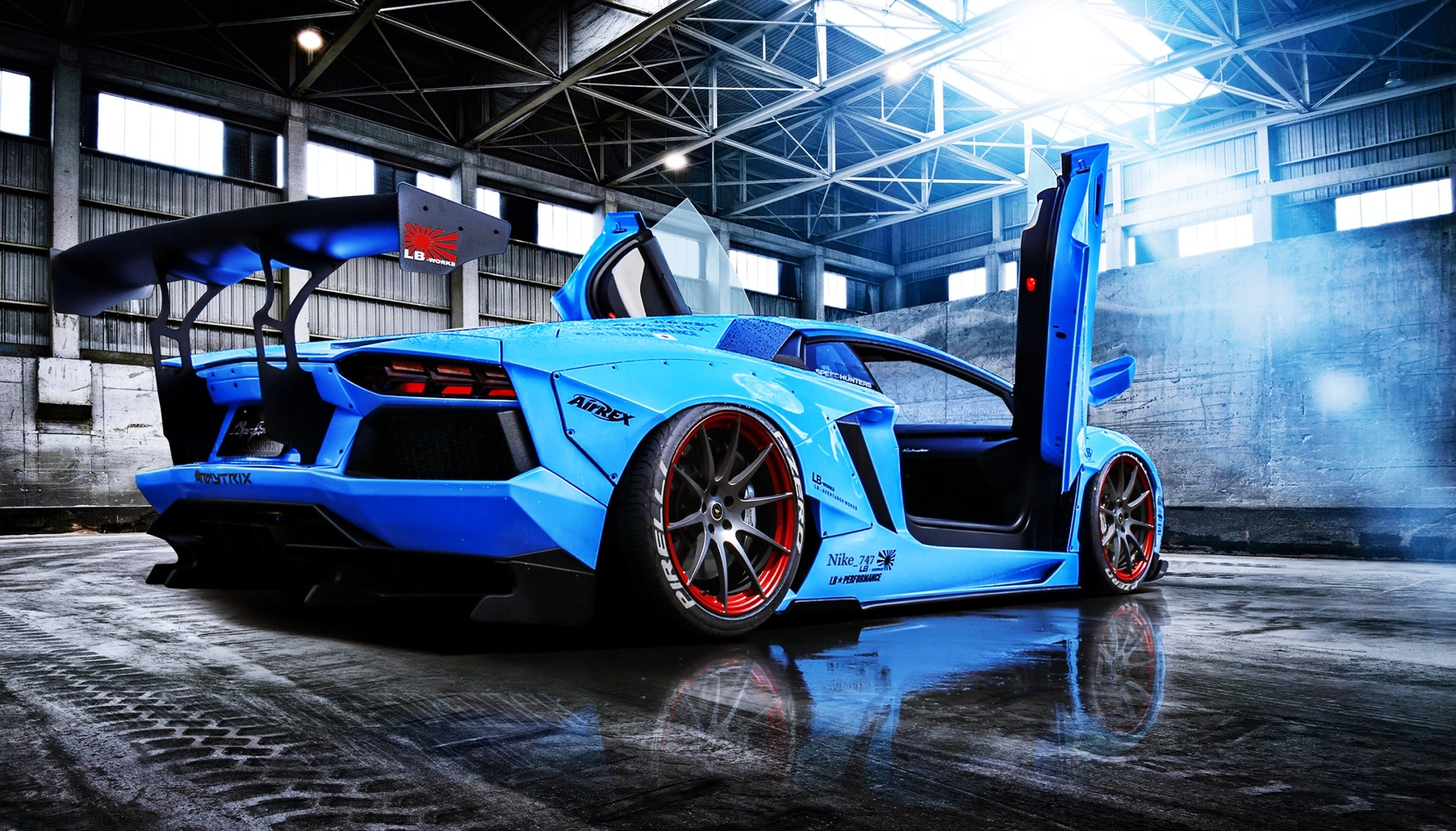 Aventador Beam Blue Cars Doors Lamborghini Liberty Lp720 4 Motors