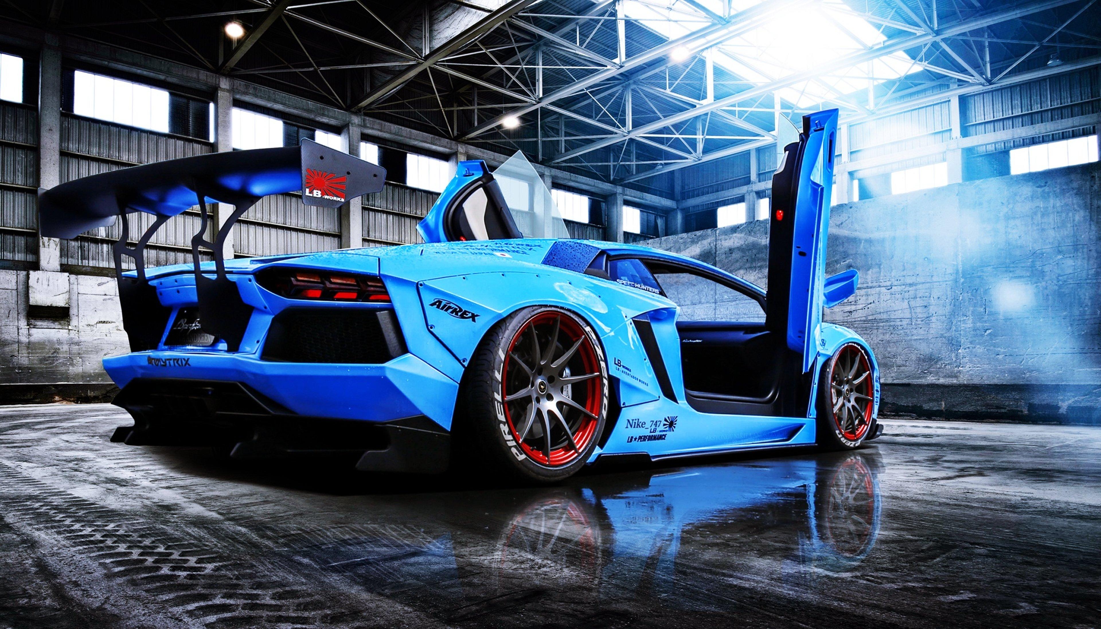 Aventador Beam Blue Cars Doors Lamborghini Liberty Motors