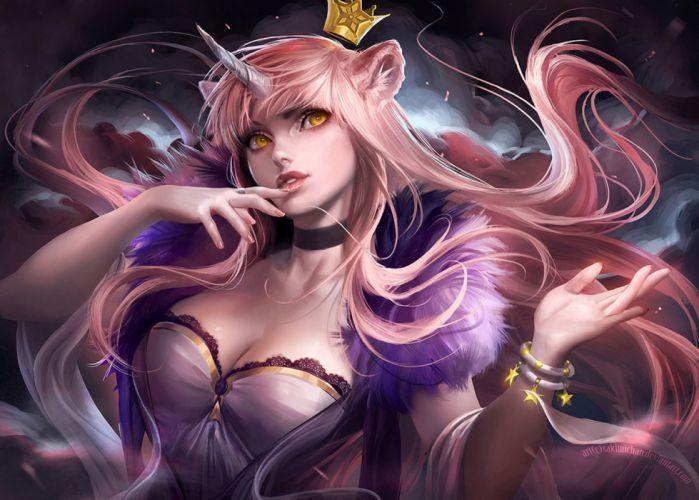 anime girl beautiful dress fantasy long hair wallpaper