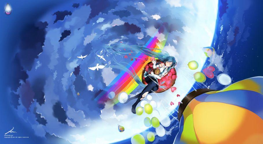 vocaloid-hatsune+miku clouds sky wallpaper