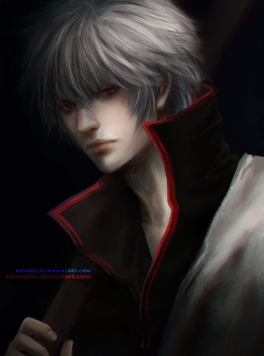 anime series gintama alone samurai sword wallpaper
