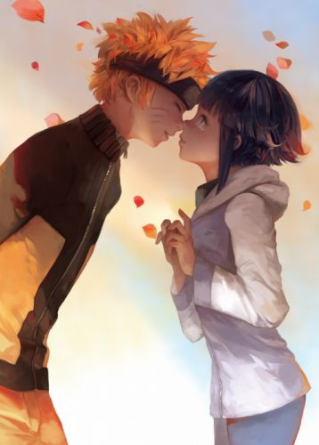 anime series naruto couple short hair love kiss wallpaper